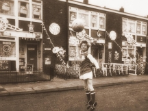 1972 - a young Arsenal fan having a kick about before his team's Cup Final with Leeds
