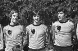 Neeskens, Cruyff and Van Hanegem, Netherlands