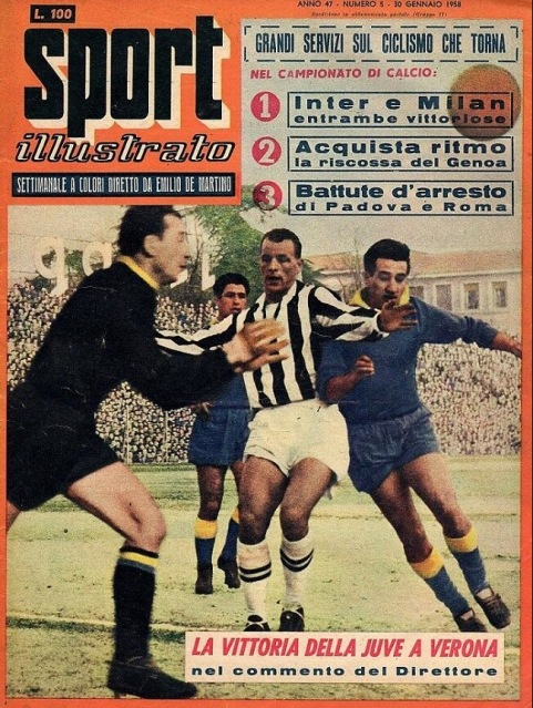 SPORT illustrato cover with John Charles, January 1958