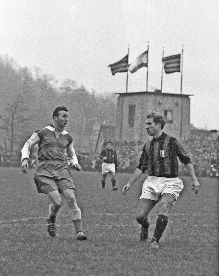 FC Saarbrucken v Milan 1955-56