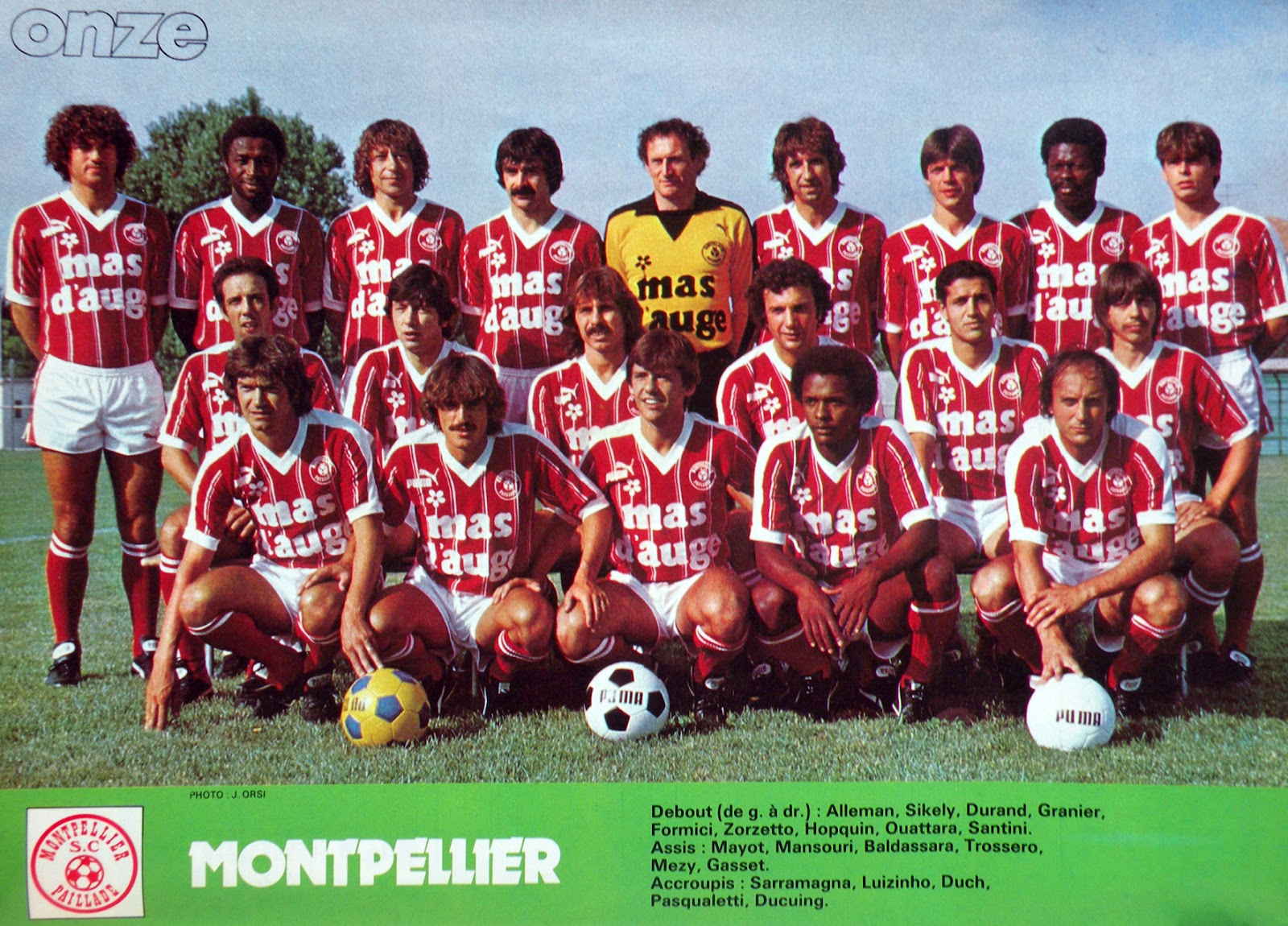 Inelegant french football shirts of the 1970s 80s beyond the last man - Logo montpellier foot ...