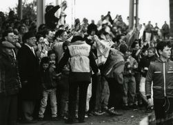 Celebrating the Second Division championship, April 1989