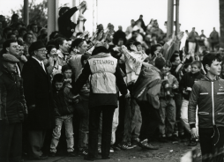 Celebrating the Second Division championship, April 1989