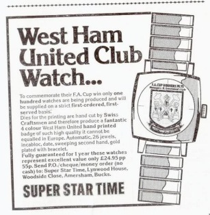 West Ham club watches
