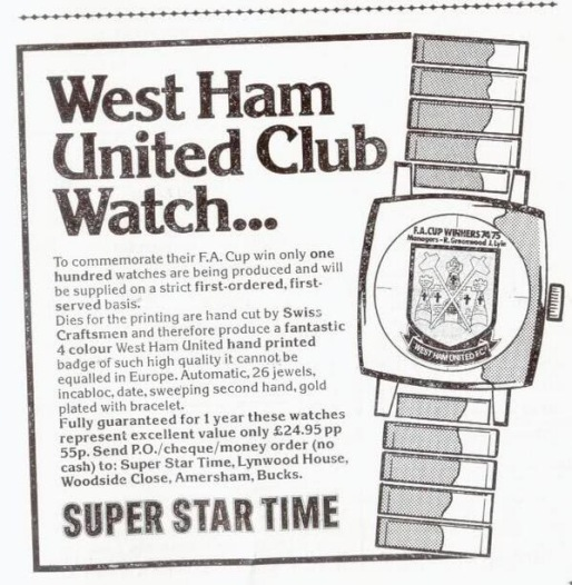 West Ham club watches
