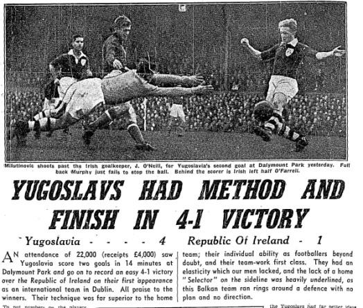 Ireland 1 Yugoslavia 4