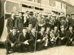 Leaving for cup business in Dundee, 1946