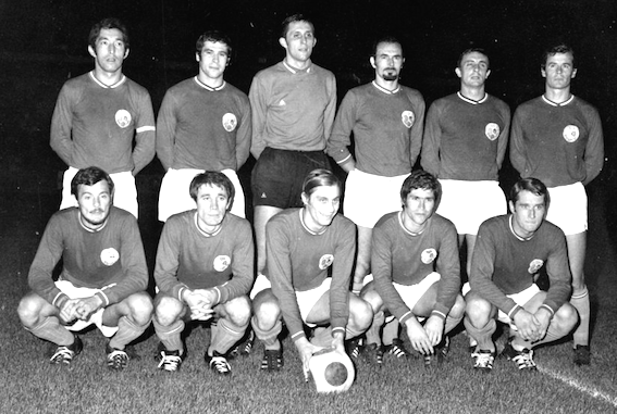 Captained by Jean Djorkaeff (father of Youri), PSG's first official game v Quevilly, 1970. Zivko is second from left, bottom row.