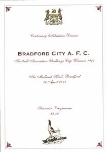 Bradford City Celebration Dinner 1911