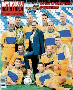 Ceca and players 1999