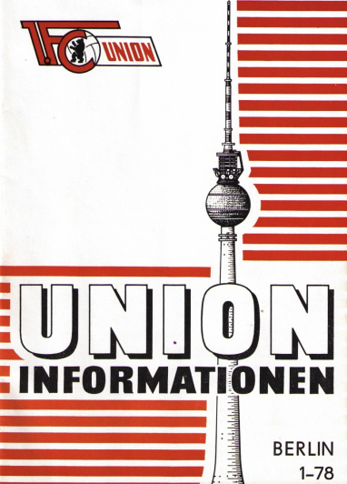 Cover of a 1978 issue of Union Informationen, the club's programme