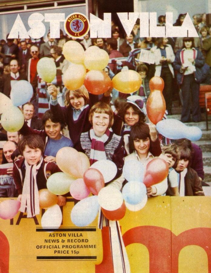Aston Villa v Rangers match programme, 1976
