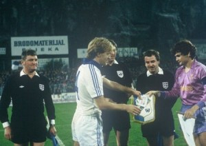 Rijeka and Real Madrid captains, 1984