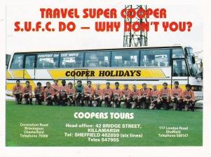 Sheffield United sponsored coach hire