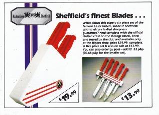 Sheffield United kitchen knives