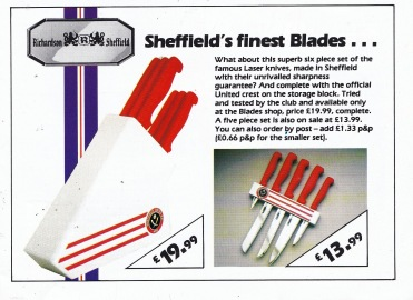 Sheffield United kitchen knives