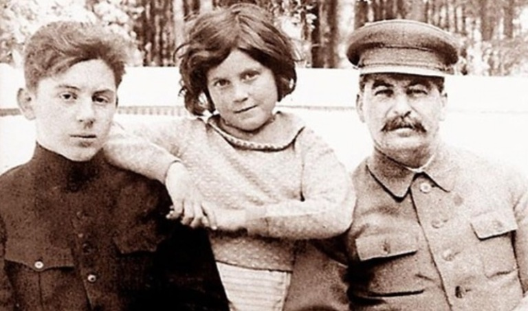 Joseph Stalin and his children The happy family. Joseph Stalin and his children Vasily and Svetlana