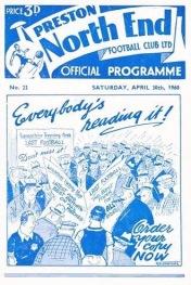 Tom Finney, Preston NE programme for last-ever game
