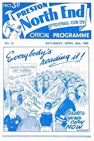 Tom Finney, Preston NE programme for last-ever game