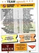 Dundee Utd v Partizan match programme, December 1994