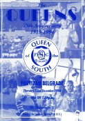 Queen of the South v Partizan match programme, December 1994